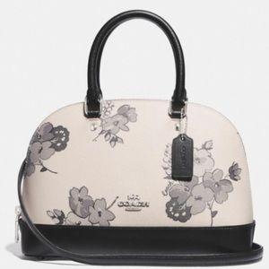 Coach NWT Floral Print Small Satchel/Crossbody Bag
